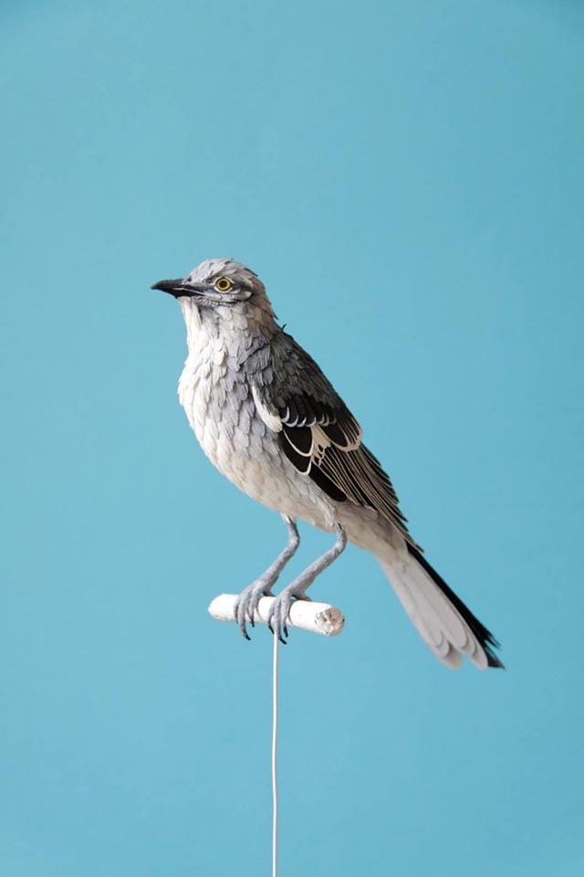 Lifelike Paper Bird Sculptures by Diana Beltran Herrera