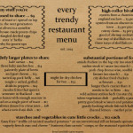 A Spot-On Parody of a Trendy Restaurant Menu