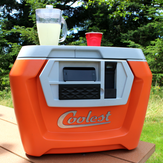 The Coolest, A Camping Cooler With a Built-In Blender, Bluetooth Speaker, USB Charger, and Other Amenities