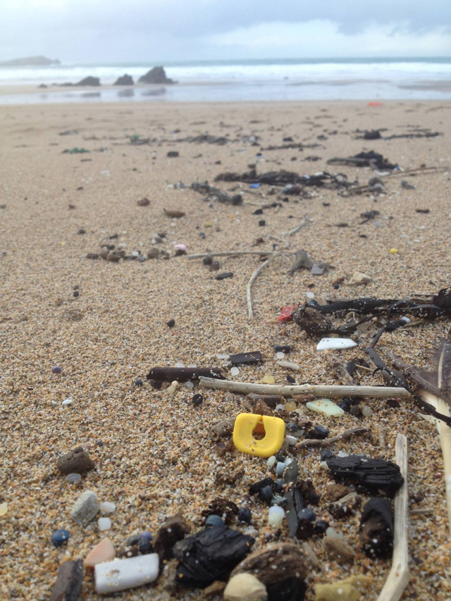 LEGO Pieces on the Beaches of Southwestern England