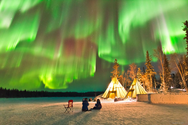 Auroras over Northern Canada