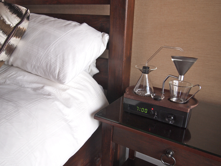 The Barisieur, A Clever Combination Alarm Clock and Coffee Brewer