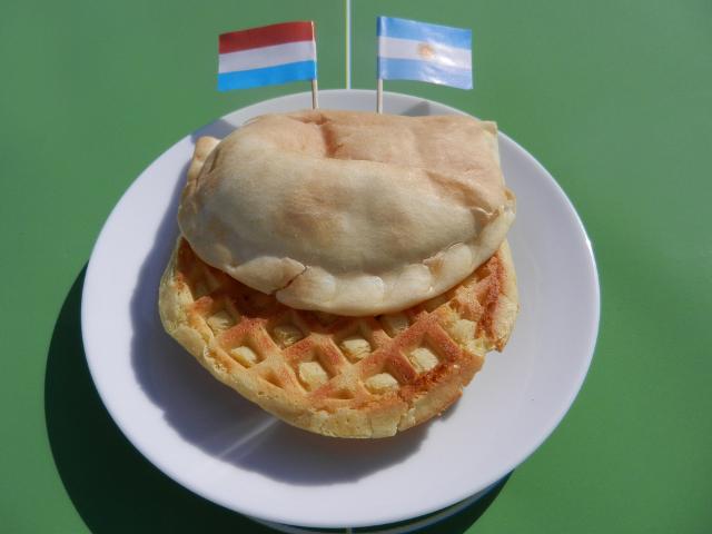 Netherlands vs Argentina - Waffle Empanada