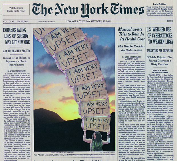 New York Times Cover Page Art by Fred Tomaselli