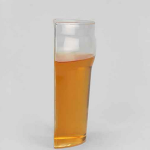 Novelty Half-Pint Glass Literally Made as a Halved Pint Glass