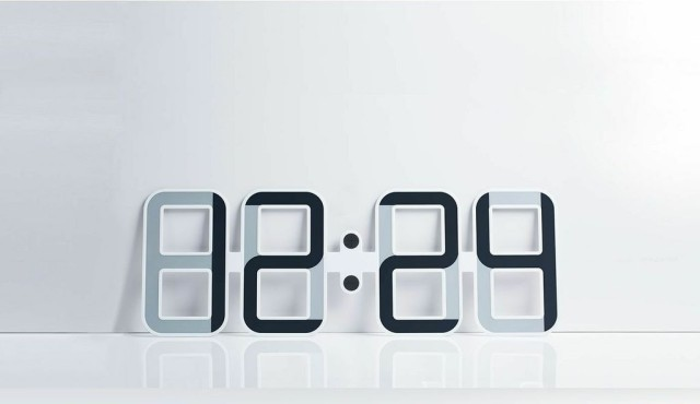 Clockone A Large Minimalist Digital Wall Clock With An E: cool digital wall clock