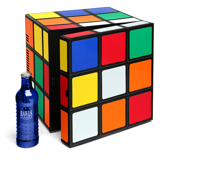 Rubiks Cube with Bottle