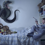 Adorable Photos of Children Fighting Off Monsters in Their Bedrooms