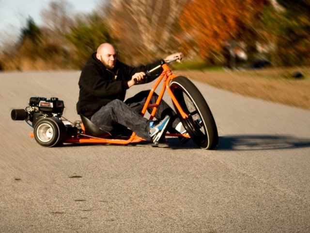 Motorized big wheel drift trike