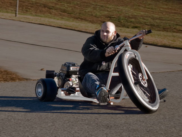 Big Wheel Drift Trike, A Motorized Big Wheel-Style Tricycle Built for Adults