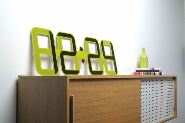 ClockONE A Large Minimalist Digital Wall Clock With an E Ink Display