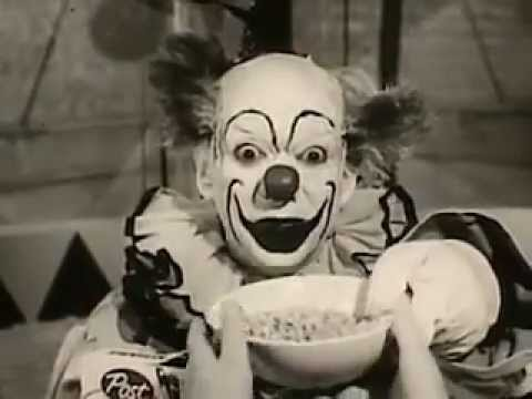 A Creepy 60s Cereal Commercial Starring Krinkles the Clown