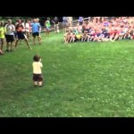 Cute 15-Month-Old Boy Gets a Crowd of 500 Kids to Follow His Cheerful Lead at Camp Rockmont in North Carolina