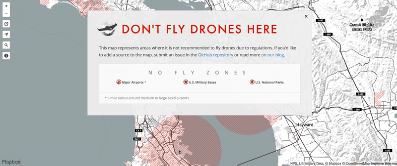 Dont Fly Drones Here A Crowdsourced Map Of Local Drone NoFly - No fly zone for drones map