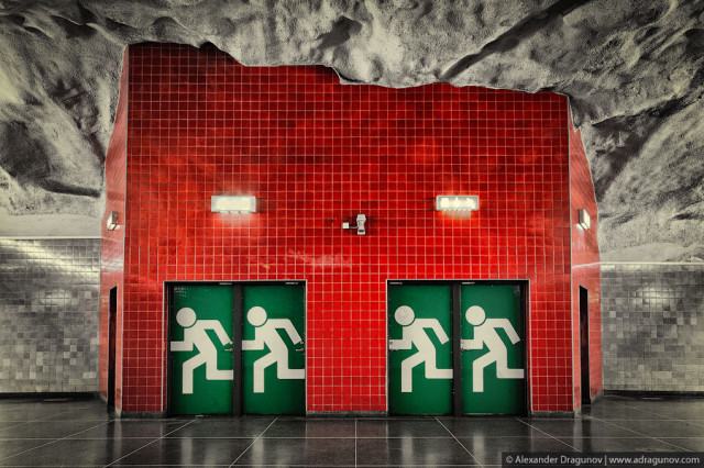 Photos of Stockholm's Visually Striking Metro System