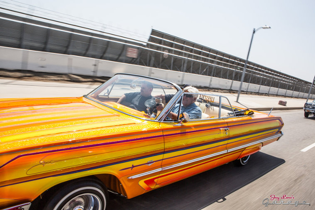 Jay Leno and Lowrider Magazine Cruise the Streets in a ...