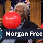 Morgan Freeman and Jimmy Fallon Carry on a High-Pitched Conversation While Sucking Helium Out of Balloons
