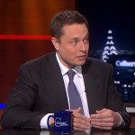 Stephen Colbert Talks Rockets and Cars With Elon Musk of Tesla Motors and SpaceX