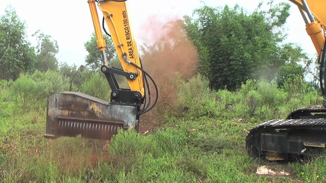 Powerful Forestry Mulcher Shreds Through Four Story Tall