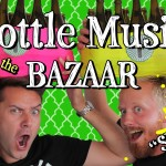 The Bottle Boys Perform the Turkish Song 'Simarik' Live at a Bazaar in Istanbul Using Bottles as Instruments