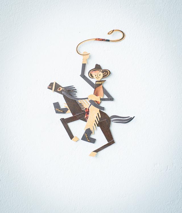 Delightful Cut Paper Characters Made from Product Packaging