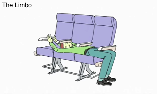 Airplane Sleep Positions by Demetri Martin