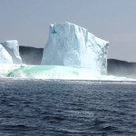 Video of a Large Iceberg Collapsing in Newfoundland, Canada and Its Immediate Aftermath