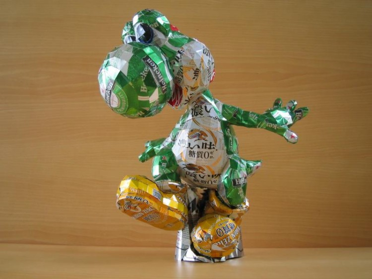 Aluminum Can Sculptures of Pop Culture Characters