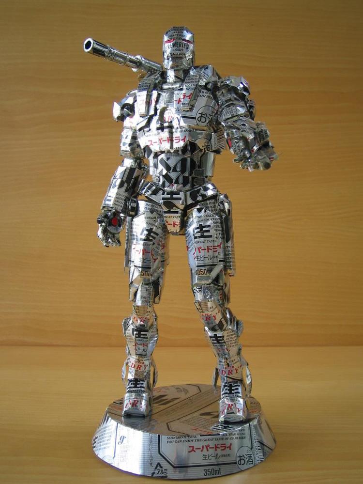 Aluminum Can Sculptures of Pop Culture Characters