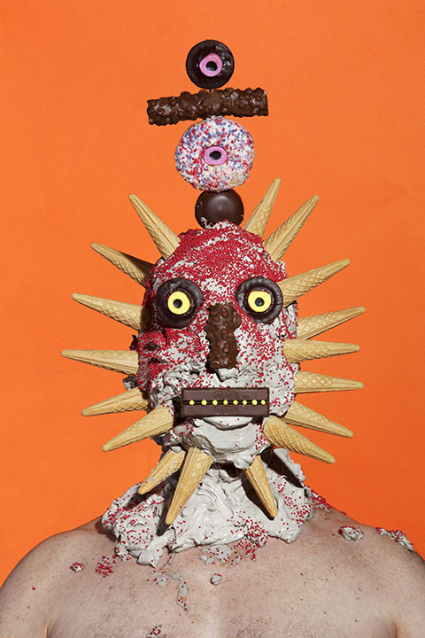 Creepy Portraits of People Covered in Frosting and Junk Food