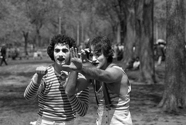 2 Mimes in the Park 1974
