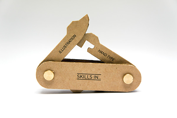 A Clever Swiss Army Knife Business Card