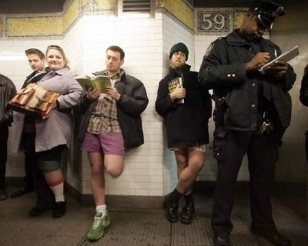 7th Annual No Pants! Subway Ride by Improv Everywhere