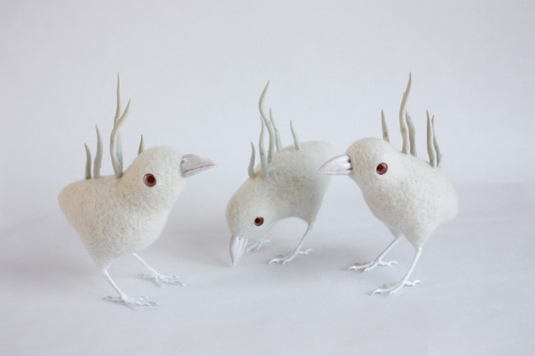Felted Wool Animal Sculptures by Zoe Williams