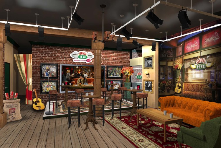 39 central perk 39 coffee shop from the television show 39 friends 39 to open in new york for show 39 s. Black Bedroom Furniture Sets. Home Design Ideas