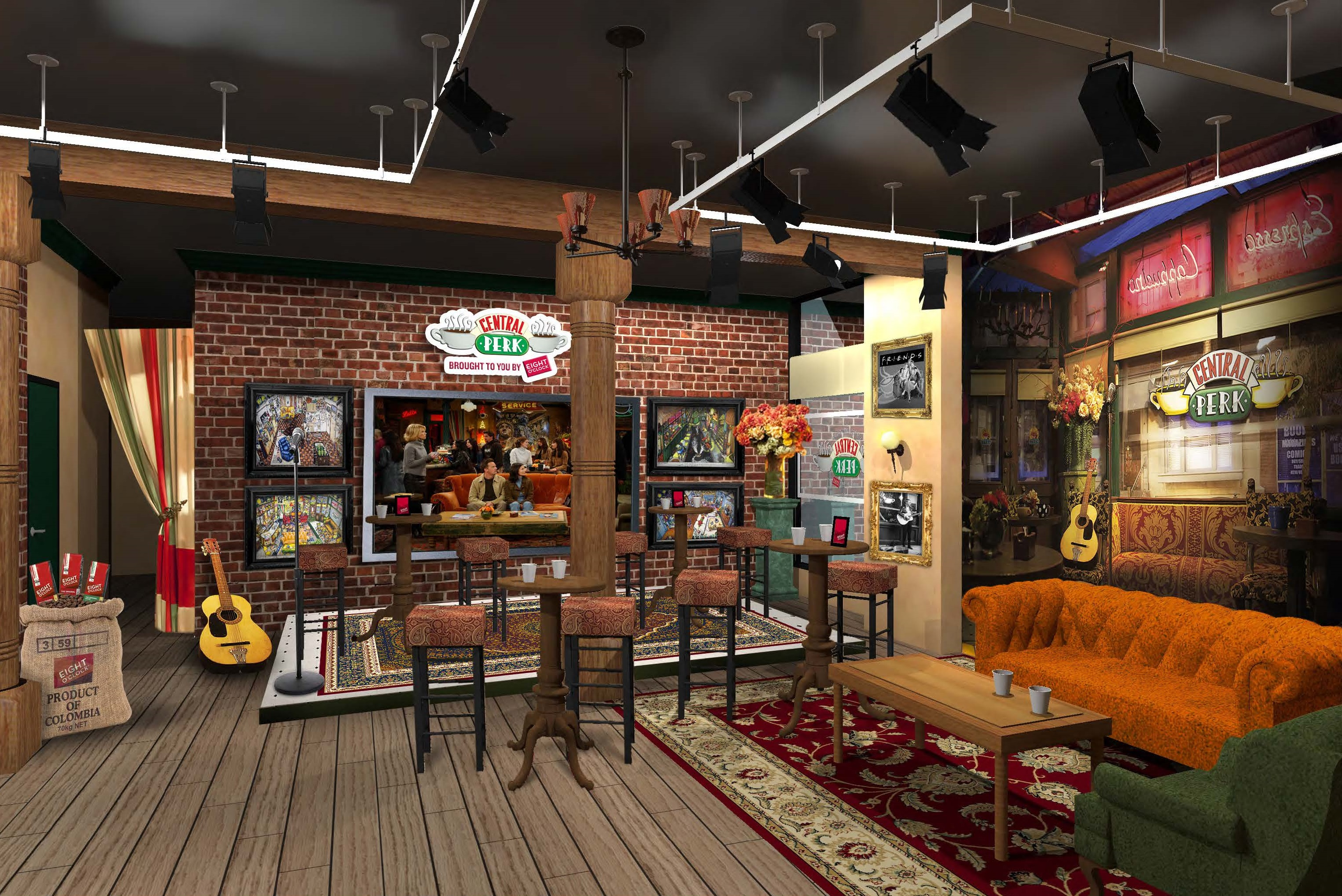 Central Perk Coffee Shop From The Television Show Friends To Open In New York For Shows