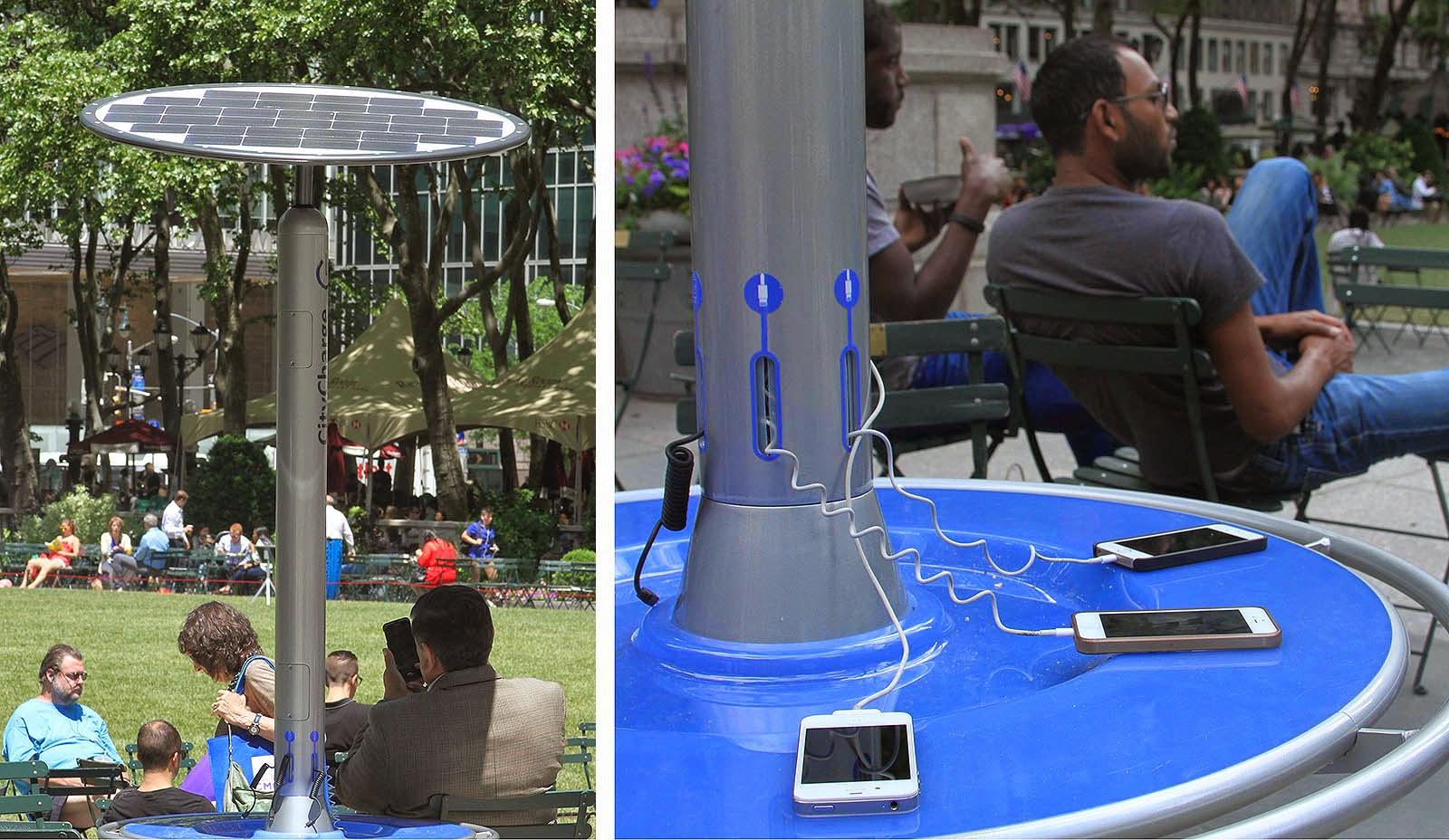 Bryant Park In New York City Begins Testing Solar Powered