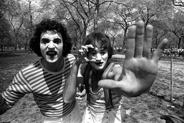 Closeup of 2 Mimes 1974