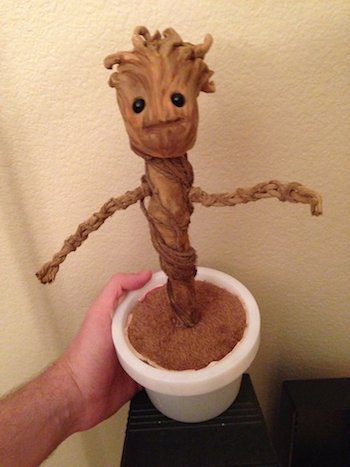 A Homemade Version of Dancing Baby Groot From 'Guardians of the Galaxy'