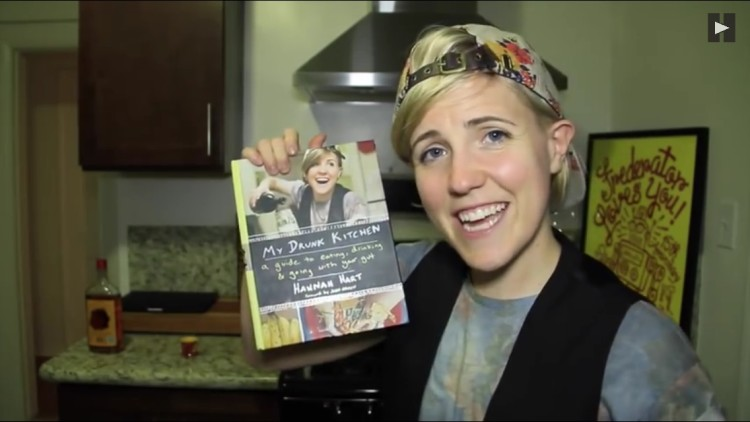 My Drunk Kitchen\', A Book Featuring Hannah Hart\'s Inebriated Cooking ...