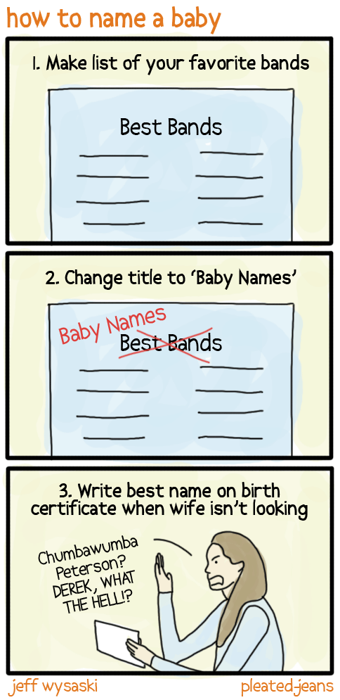 How to Name a Baby comic from Pleated Jeans