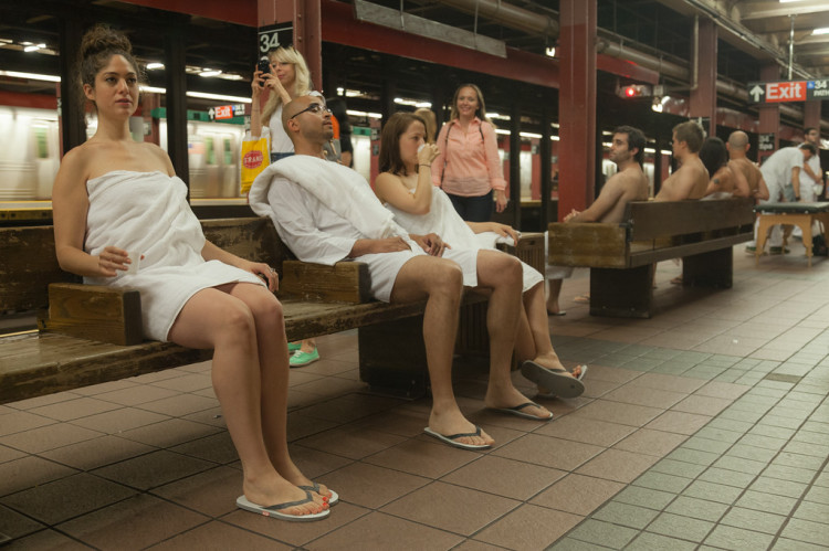 Subway Spa Improv Everywhere