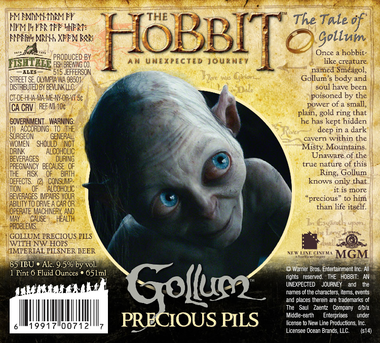 A Line of Beers by Fish Brewing and BevLink Based on 'The Hobbit' Film Series