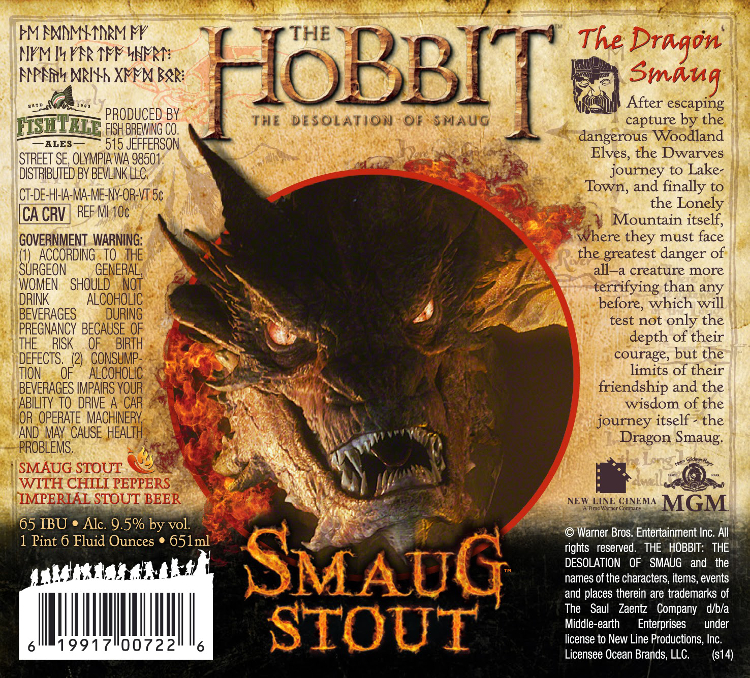 Fish Tail Hobbit Smaug Stout