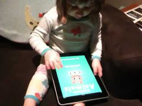 A 2.5 Year-Old Uses an iPad for the First Time