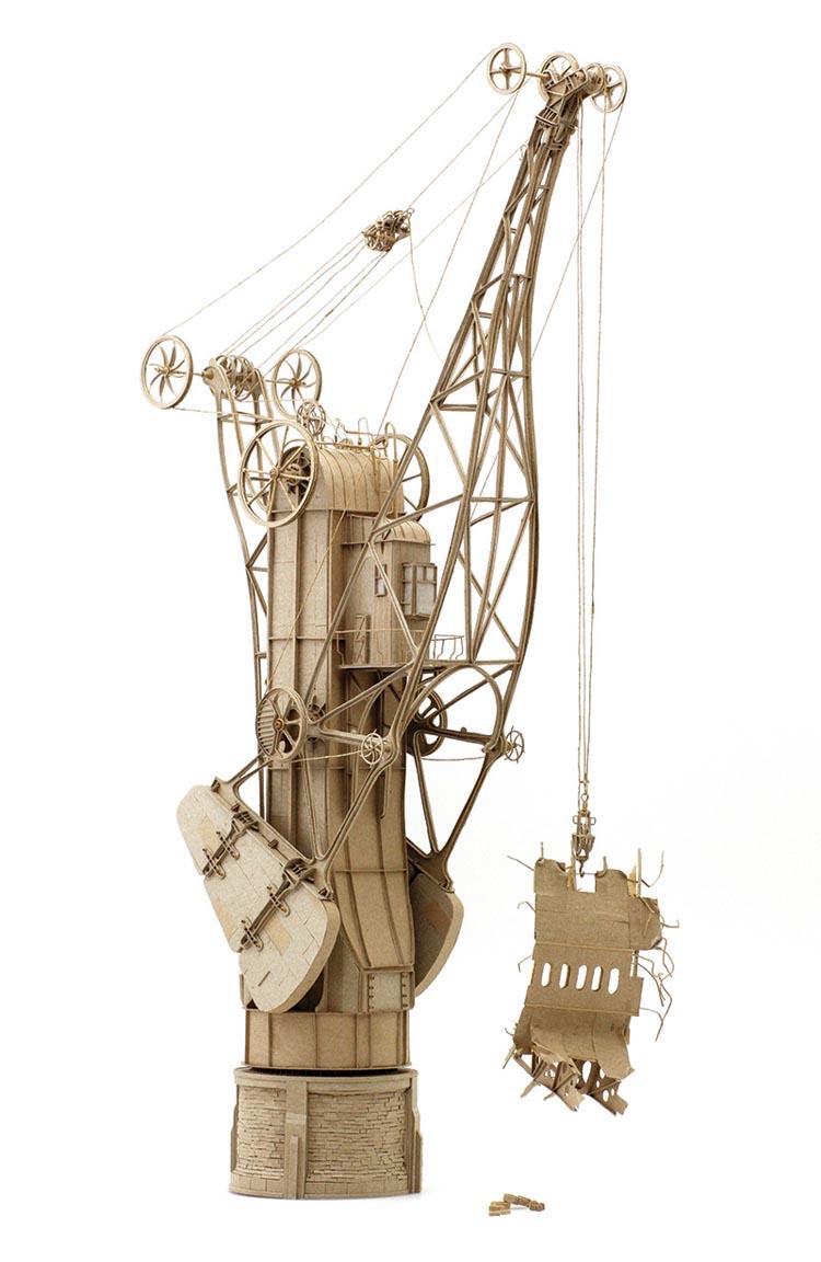 Flying Machine Cardboard Sculptures by Daniel Agdag
