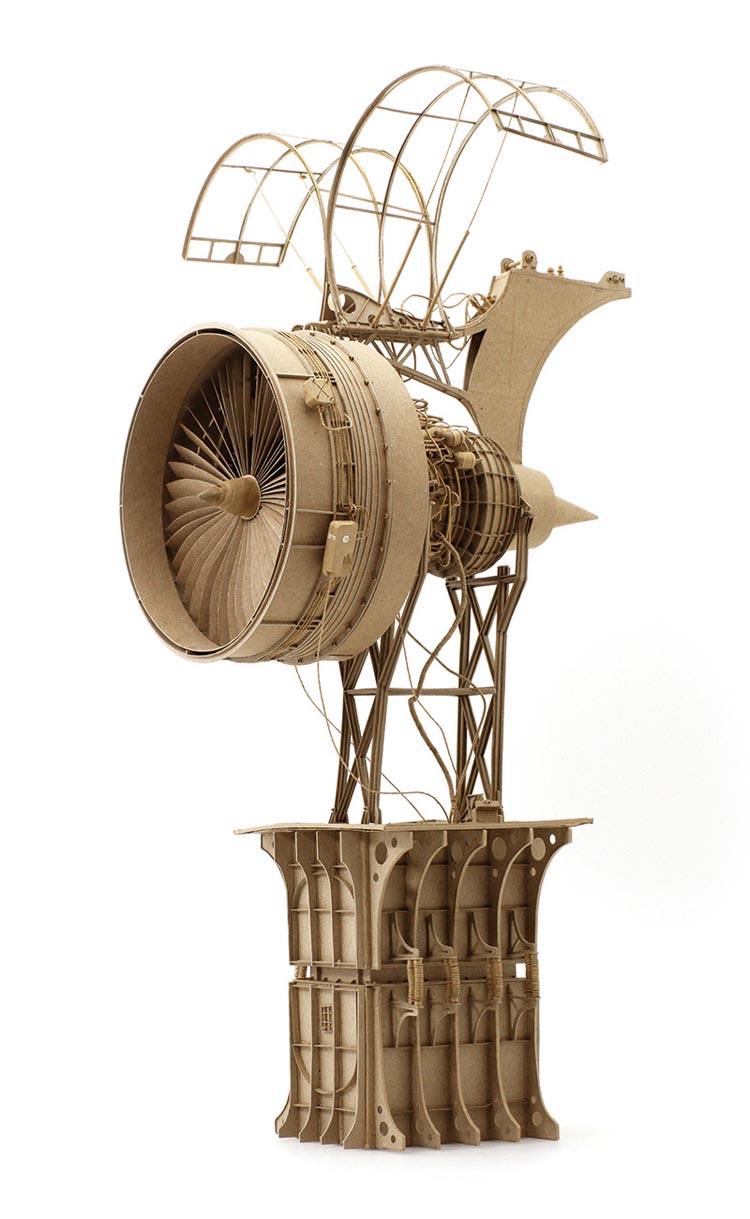 Flying Machine Cardboard Sculptures by Daniel Agdag