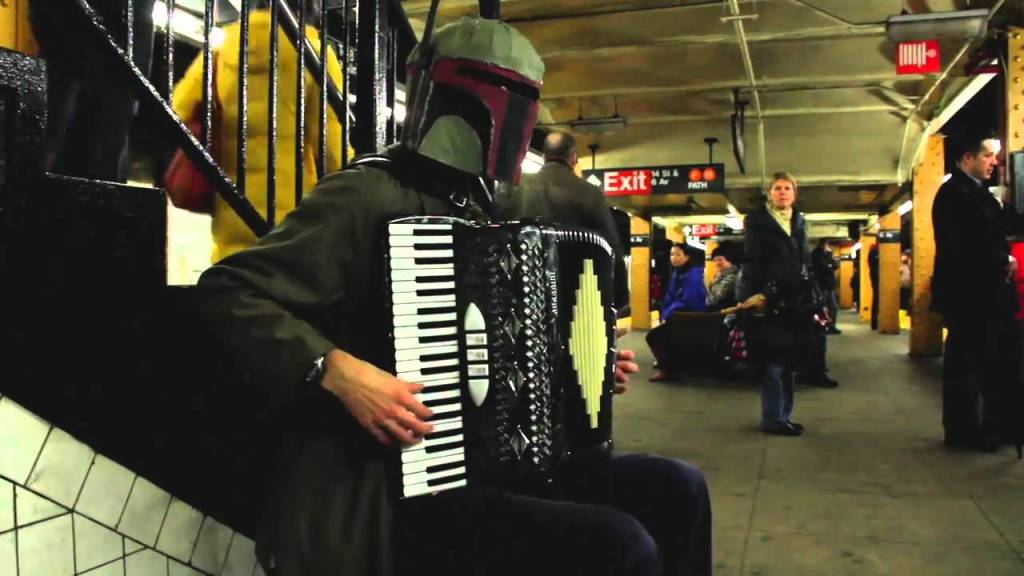 "Boba Fett Playing The ""Lost Woods"" Song From Zelda on an Accordion"