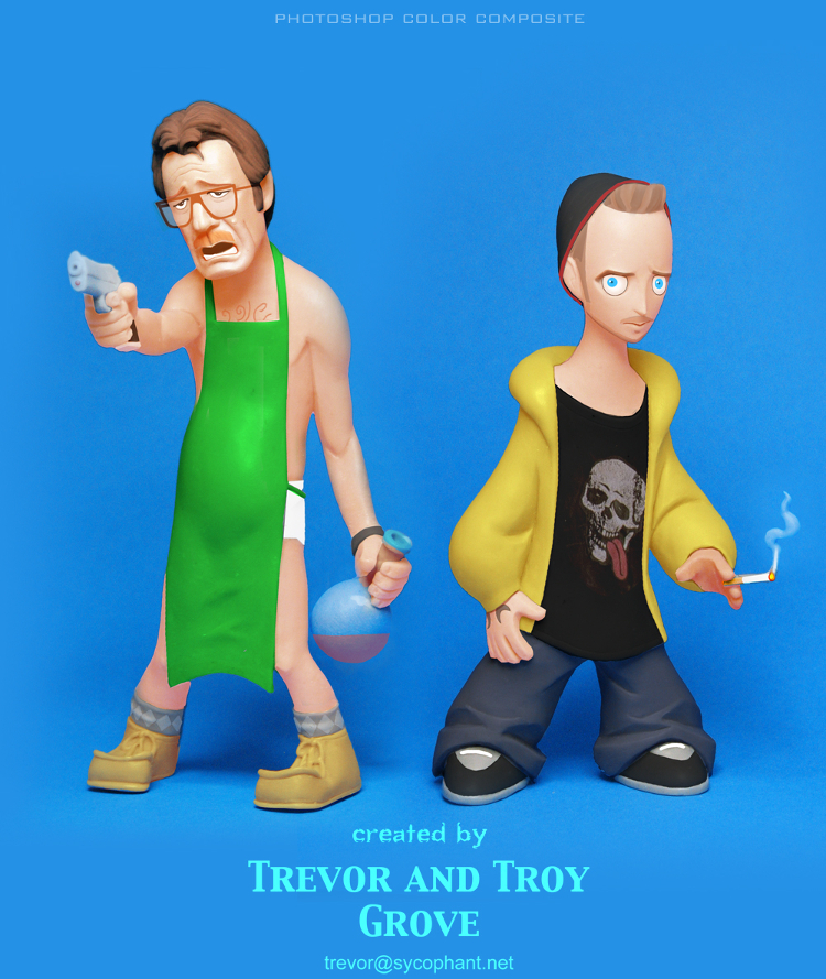 BREAKING BAD Toon-Up Figures: Walt and Jesse