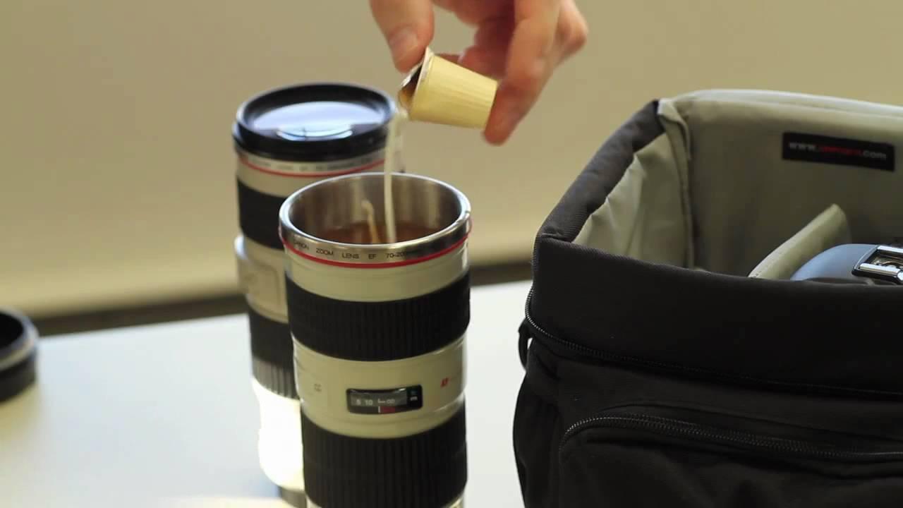 Canon ef lens travel mug for Canon photo lens mug